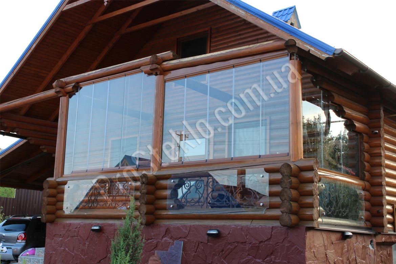 Деревянные дома остекление балкона..