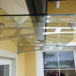 Большой стеклянный козырек