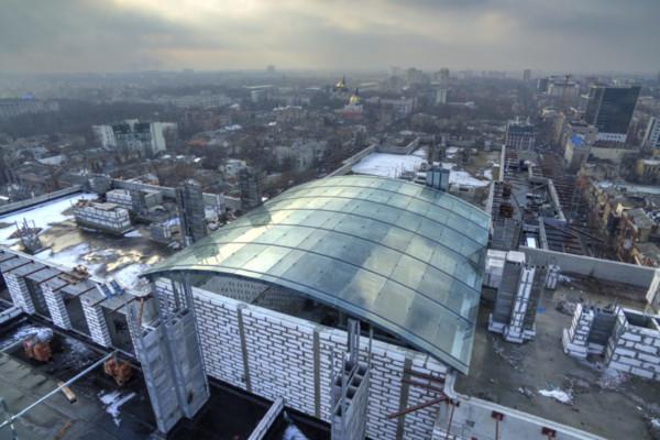 Зенитный фонарь на крыше «Башня Чкалов»