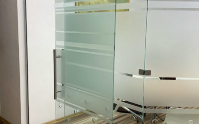 Стеклянная дверь manet
