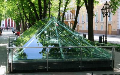 Стеклянный купол на Приморском бульваре в Одессе