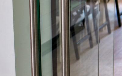 Цилиндрическая нержавеющая ручка для стеклянной двери
