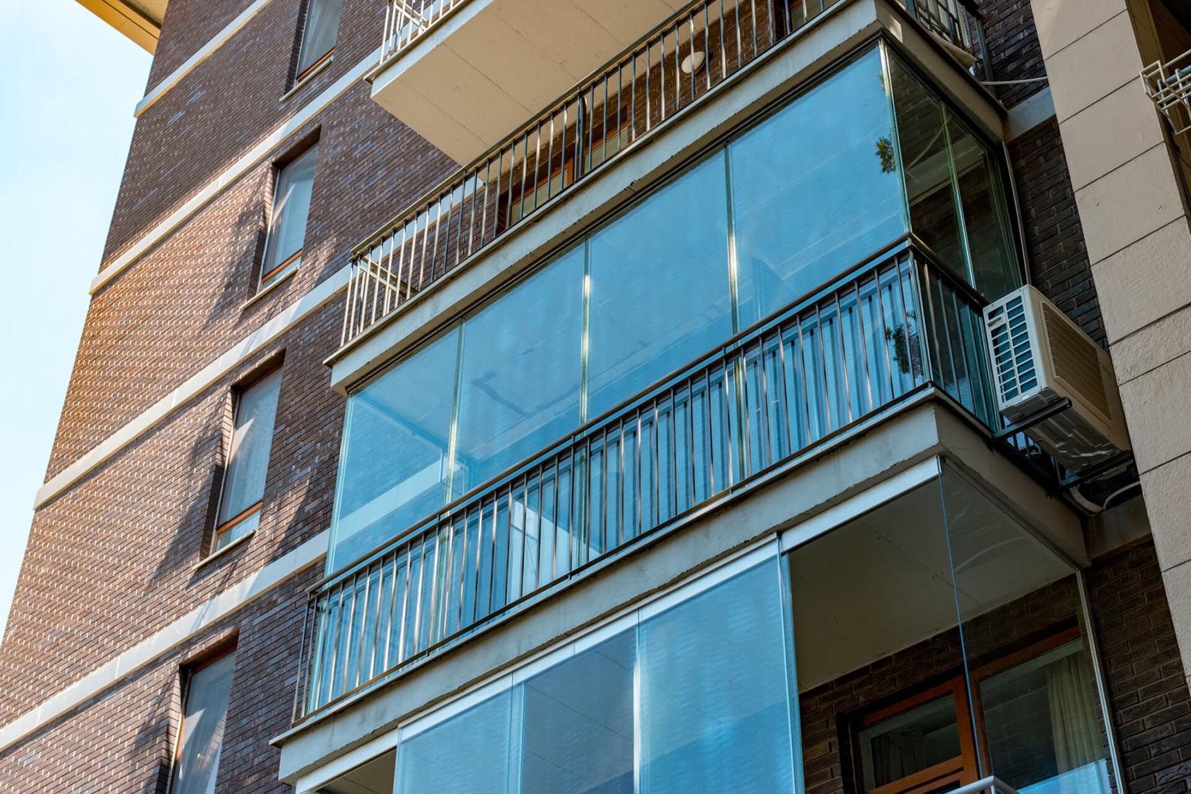 Фото прозрачных балконов.