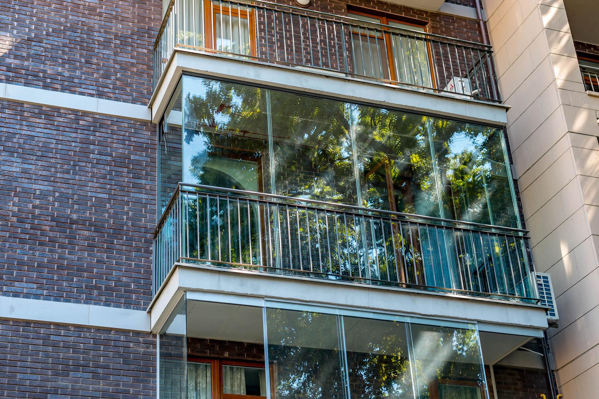 Остекление балкона (на прозрачной дистанции) портфолио prost.