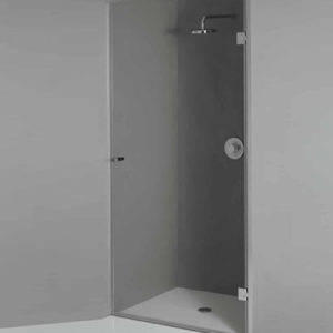 Прозрачная стеклянная дверь для душевой
