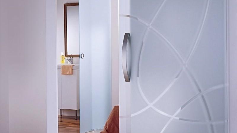 матовые стеклянные двери