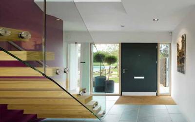 Светопрозрачное остекление лестницы