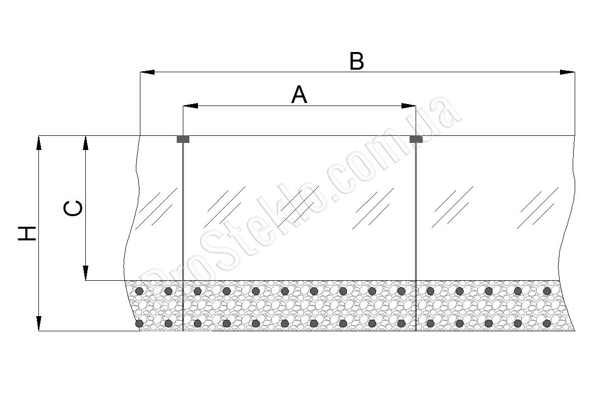 схема остекления балкона