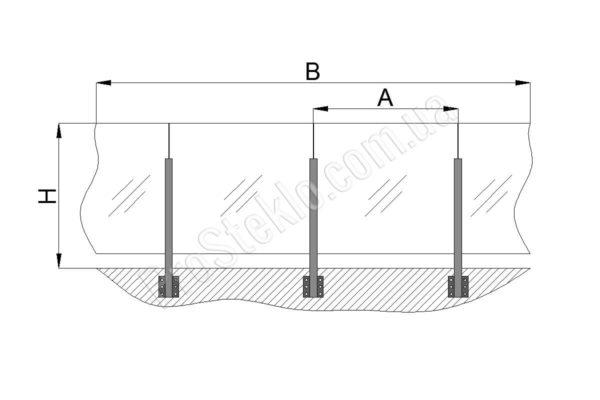 чертеж остекления балкона