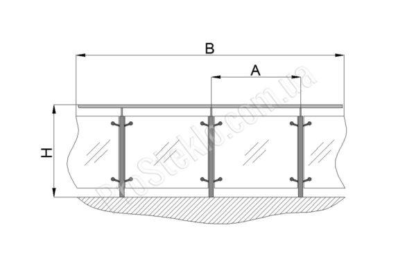 схема балконного ограждения