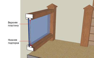 как сделать самому ограждение из балок и стекла