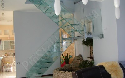 цельноcтеклянная лестница