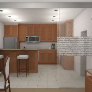 дизайн перегородки кухни