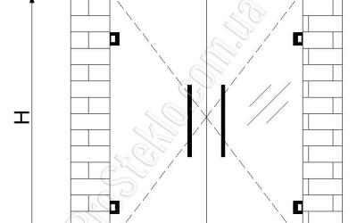 схема установки душевой стеклянной двери