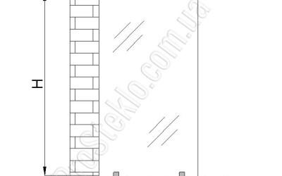 схема межкомнатной перегородки из стекла