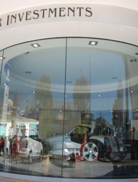 безрамный стеклянный фасад