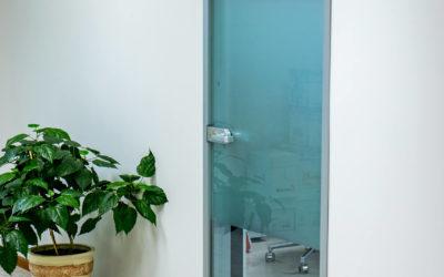 как выбрать и установить стеклянные двери