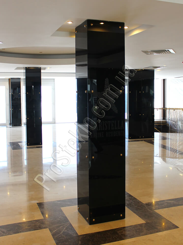 колонна стеклянная