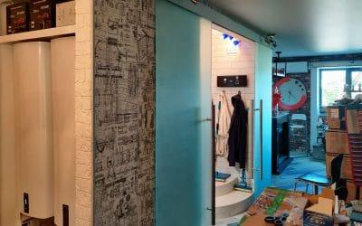 раздвижные двери в санузел