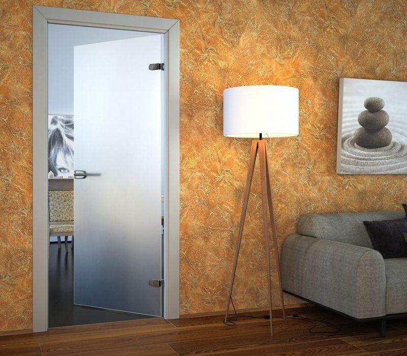 межкомнатная дверь из матового стекла фото
