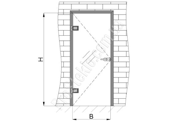 межкомнатная стеклянная дверь чертеж