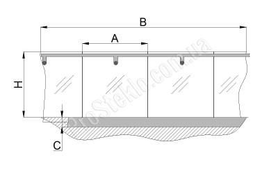 схема остекления атриума