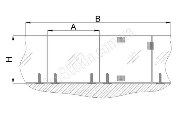 схема для монтажа ограждение бассейна