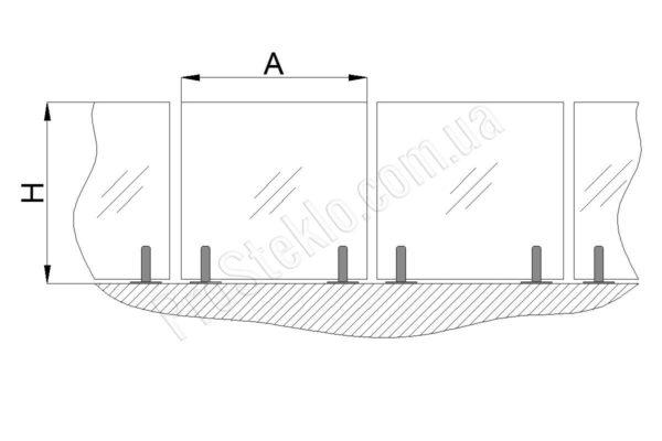 схема остекления бассейна