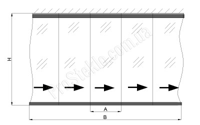 схема безрамного остекления террасы