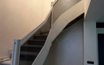 тонированное стекло лестница