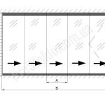 установить раздвижную перегородку из стекла гармошка