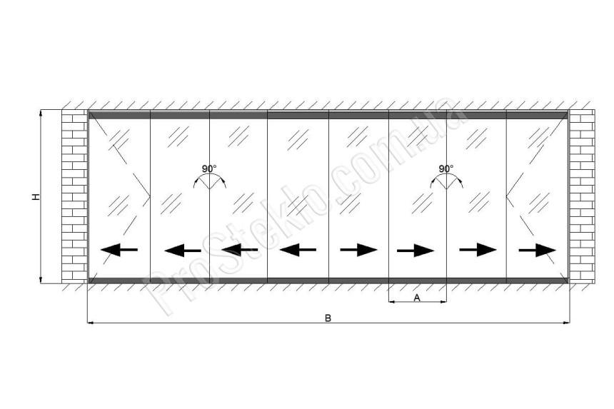 схема для остекление террас
