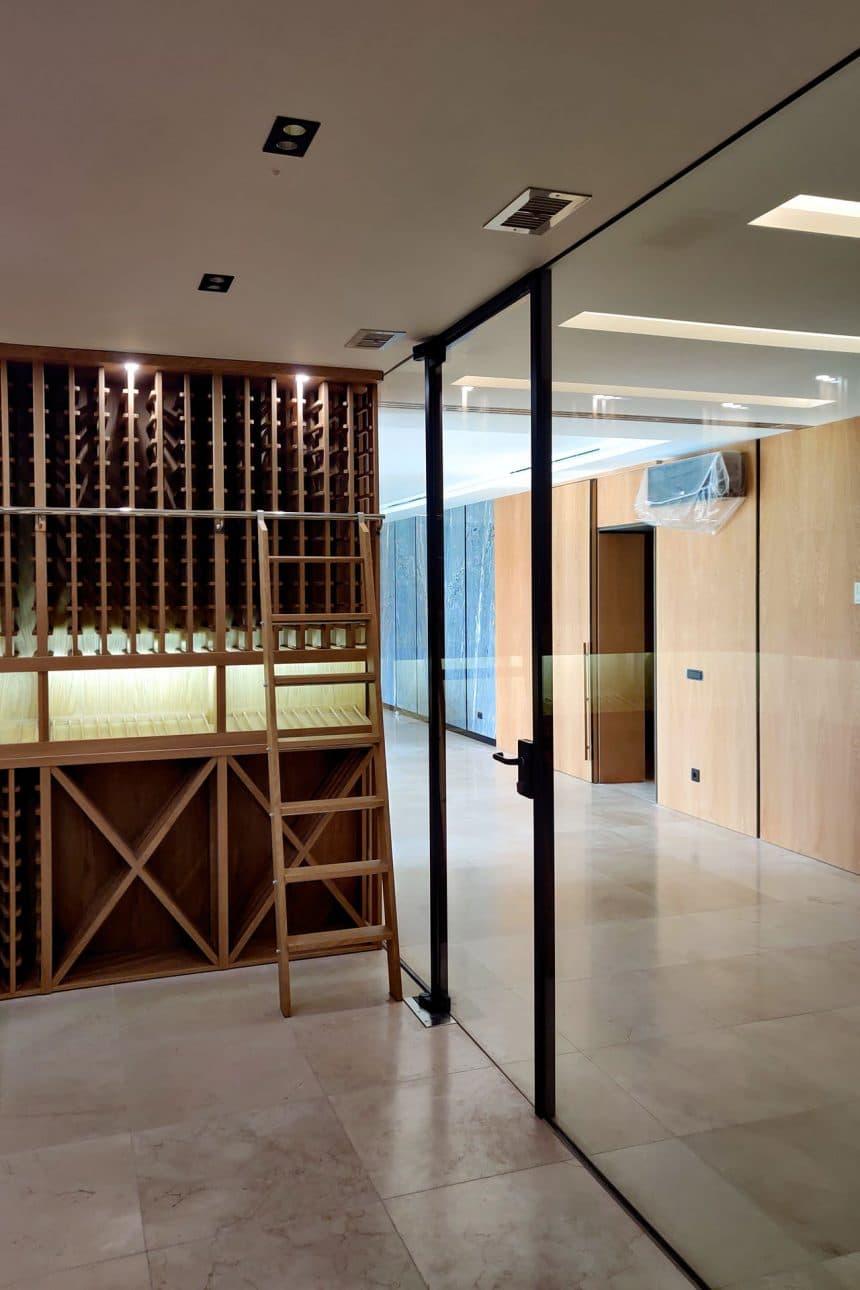 перегородка с дверью в стиле Loft
