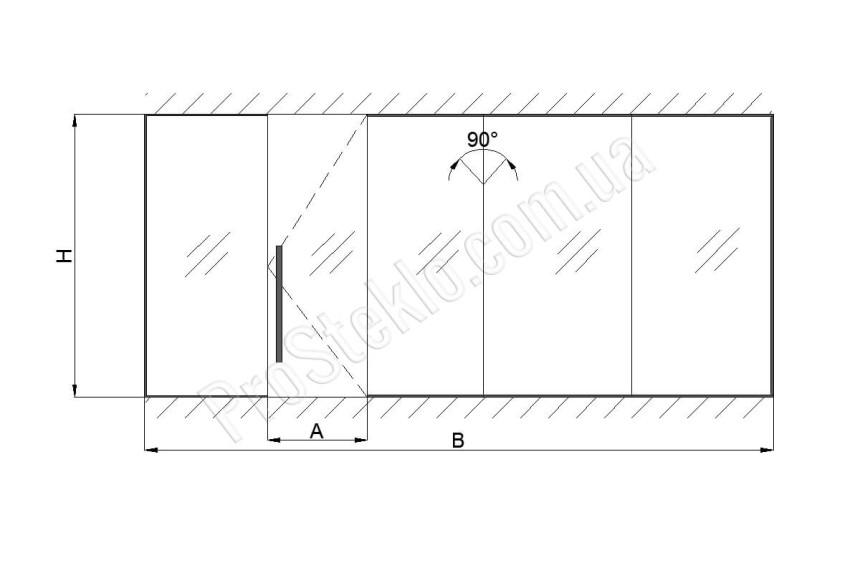 чертеж перегородки торговых центров