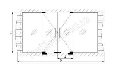 схема перегородок из стекла