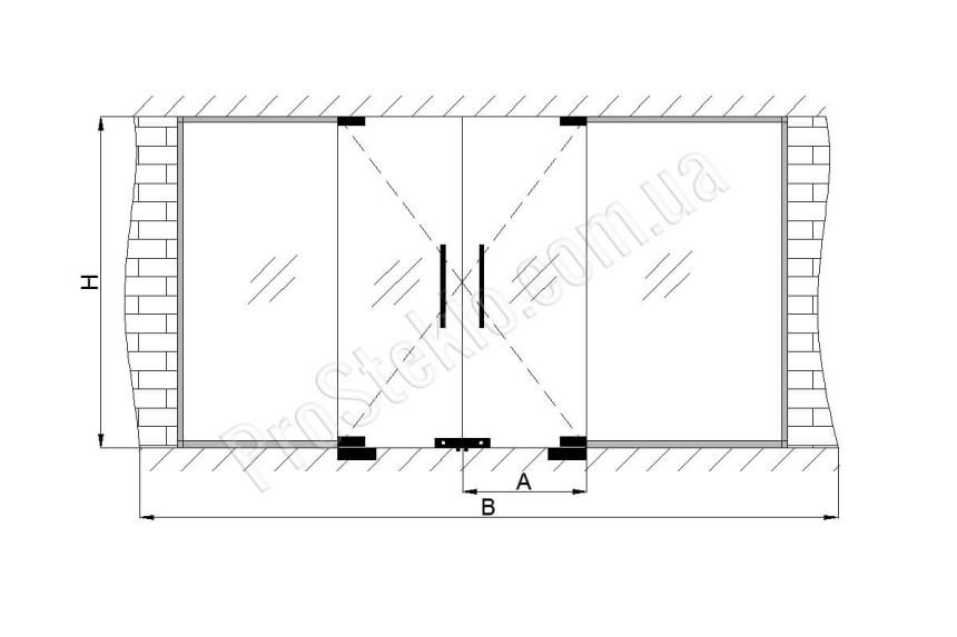 Автоматические стеклянные двери для торговых центров