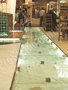 потолок пол стекло