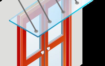 проектирование стеклянных козырьков