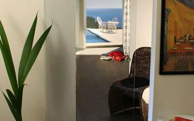 раздвижная стеклянная дверь фото
