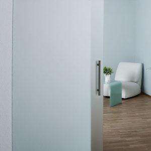 дверь стеклянная матовая