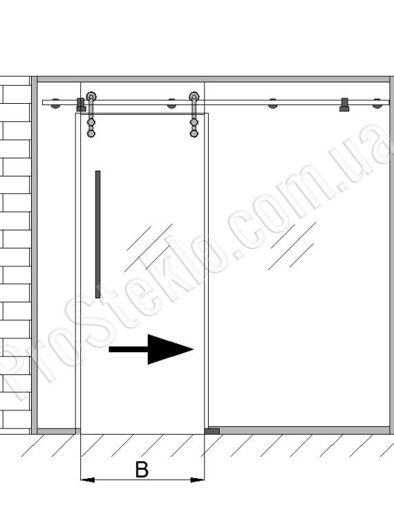схема механизма раздвижных дверей