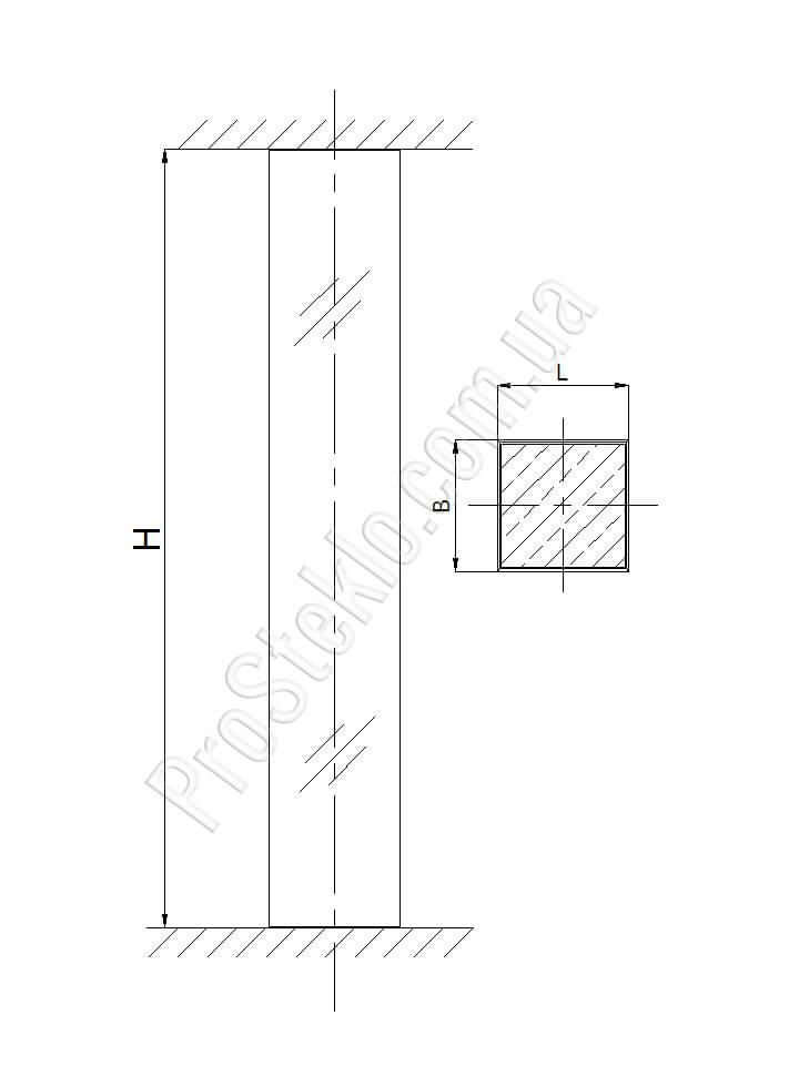 схема колонна стеклянная