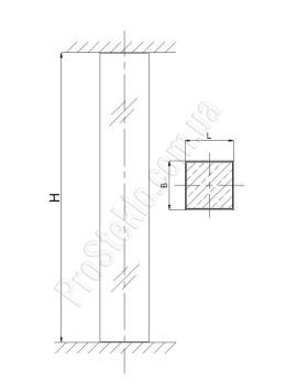 колонна из стекла схема