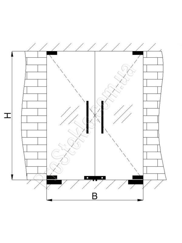 чертеж двери