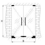 схема установки двери