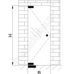 монтаж маятниковых дверей