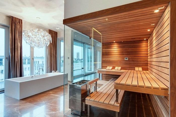 стеклянная дверь для бани под заказ