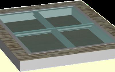 стеклянный пол поле