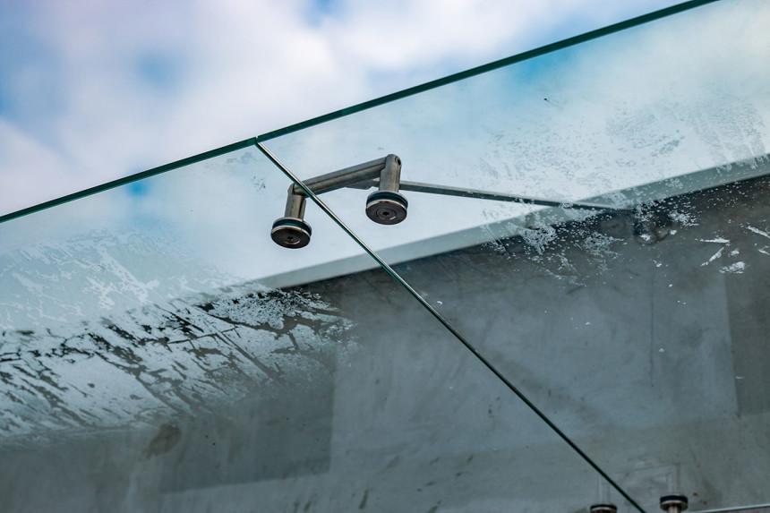 супер прозрачный стеклянный козырек