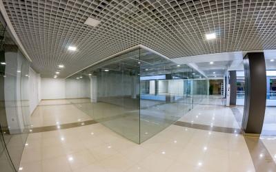 стеклянные перегородки торговых цетров